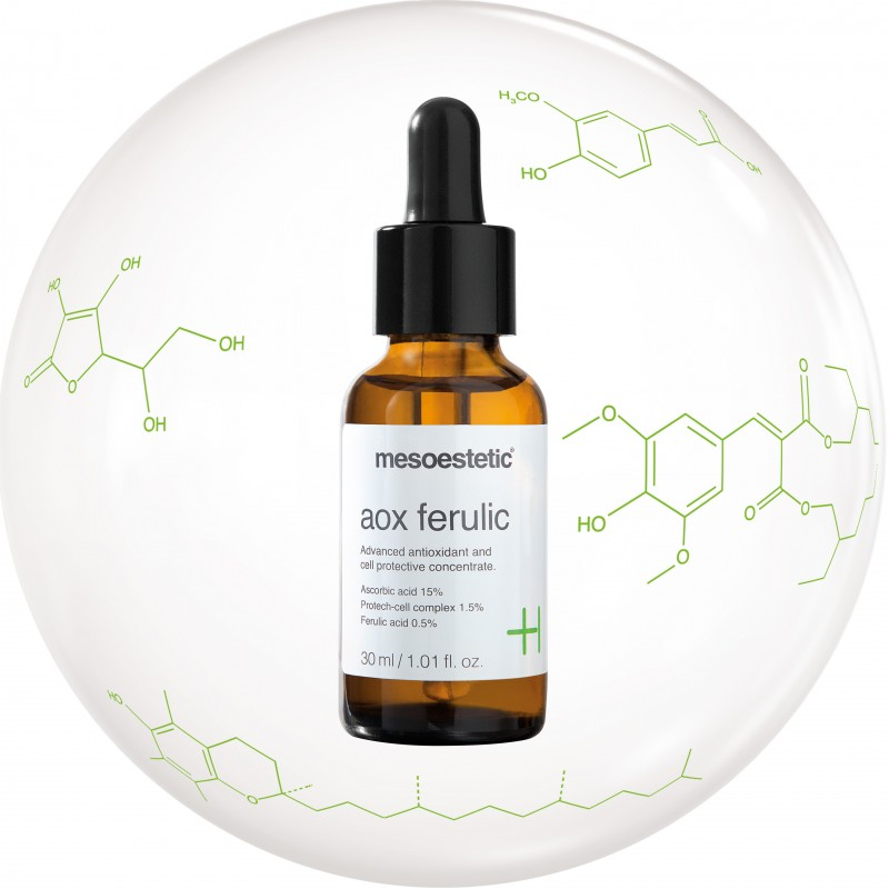 mesoestetic AOX Ferulic сыворотка антиоксидант против преждевременного старения кожи