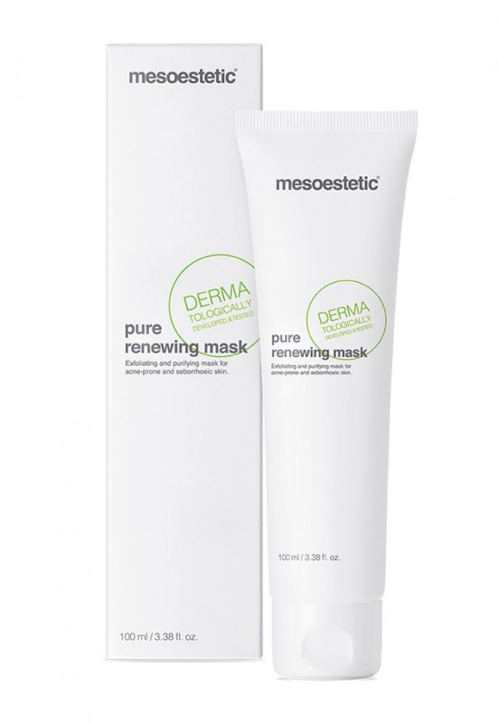 mesoestetic pure renewing mask  маска для кожи лица склонной к акне